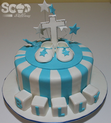 This gorgeous cake was made for a special Christening.