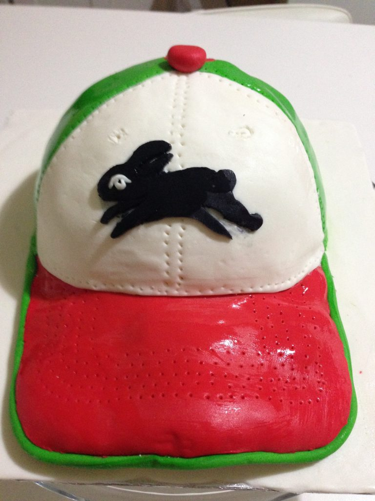 A Rabbitohs Cake was made to celebrate the Rabbitohs premiership win in 2014.